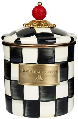 Mackenzie Childs MacKenzie-Childs Small Courtly Check Enamel Canister