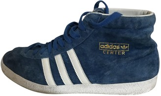 adidas Turquoise Suede Trainers