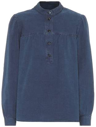 A.P.C. Loula cotton chambray blouse