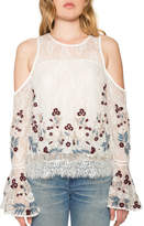 Willow & Clay Cold Shoulder Bell Sleeve Top