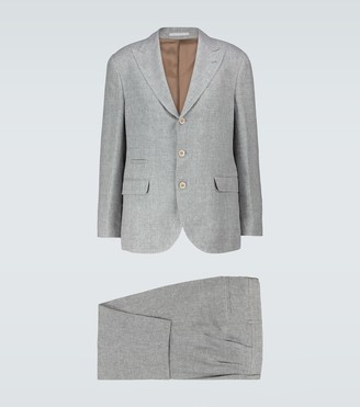 Brunello Cucinelli Single-breasted linen-blend suit