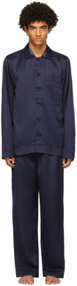 CDLP Navy Home Suit Long Sleeve Pyjama Set