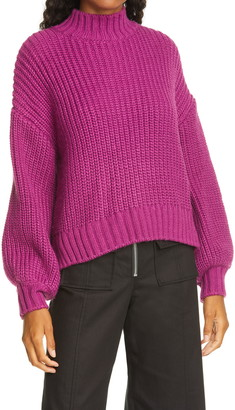 Cinq à Sept Haillie Mock Neck Sweater