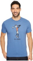 Life is Good Go Long Golf Crusher Tee Men's Short Sleeve Pullover