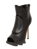 Camilla Skovgaard 120mm Open Toe Zigzag Calfskin Boots