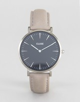 Cluse La Boheme Black & Gray Leather Watch