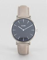 Cluse La Boheme Black & Grey Leather Watch
