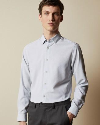 Ted Baker Cotton Geo Print Shirt