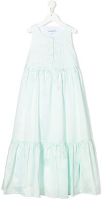 Simonetta Sleeveless Empire-Line Dress
