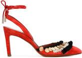 Santoni fringed pumps - women - Leather/Suede - 36