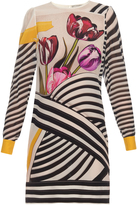 Mary Katrantzou Christie Tulip Stripe-print silk-chiffon dress