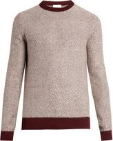 Raey Reverse herringbone wool sweater
