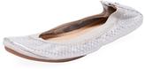 Yosi Samra Samara Embossed Metallic Leather Ballet Flat