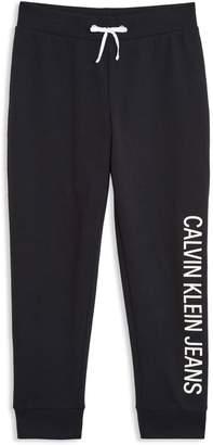 Calvin Klein Girl's Logo Fleece Sweatpants