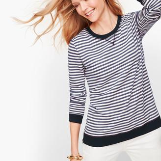 Talbots Side Zip Stripe Pullover