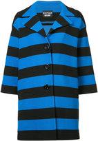 Moschino striped coat - women - Cotton/Polyamide - 42