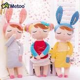Me Too Cute Metoo Angela Rabbit Dolls Cartoon Animal Design Stuffed Babies Plush Doll for Kids Birthday / Christmas Gift Children Toy