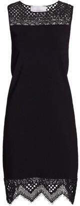 Carolina Herrera Lace Shift Dress