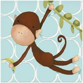 Oopsy Daisy Fine Art For Kids Hanging Monkey Canvas Wall Art