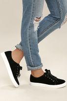 Chinese Laundry Fillmore Black Velvet Sneakers