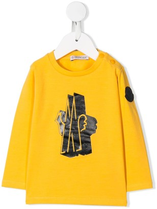 Moncler logo print jersey top
