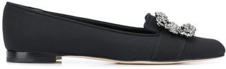 Manolo Blahnik Crystal Embellished Ballerina Shoes