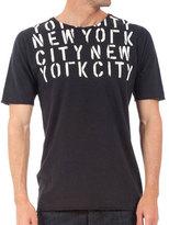 Rogan Stencil NYC Graphic Tee Black