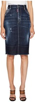 DSQUARED2 Best Blue Wash Dalma Long Skirt Women's Skirt