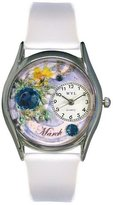Whimsical Watches Women's S0910003 Imitation Birthstone: March White Leather Watch