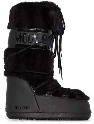 Moon Boot Classic Faux Fur Trim Snow Boots