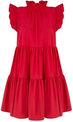 Monica Nera Luna Red Ruffle Dress