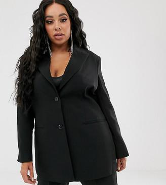 Asos DESIGN Curve pop waisted suit blazer