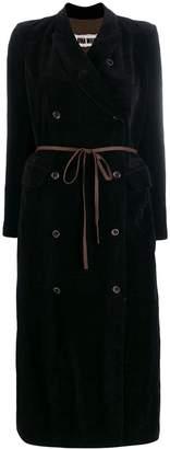 UMA WANG long double-breasted coat