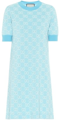 Gucci GG wool and cotton pique minidress