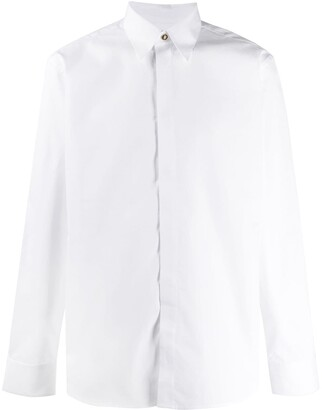 Givenchy Embossed Button Long Sleeves Shirt