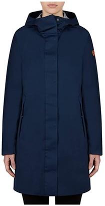 Save The Duck Bark X Long Hooded Coat (Black) Women's Clothing