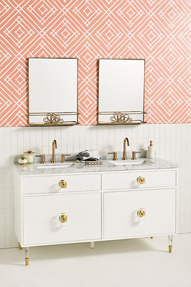 Lacquered Regency Double Bathroom Vanity By Tracey Boyd in Gold Size ALL