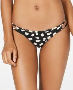 Volcom Juniors' Ur A Daisy Printed Strappy Hipster Bikini Bottoms Women's Swimsuit