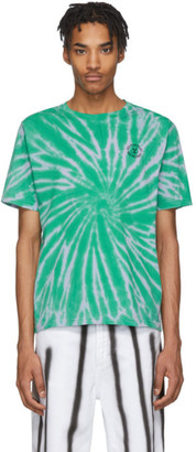 Carne Bollente Blue and Green Tie-Dye Sex Positive T-Shirt