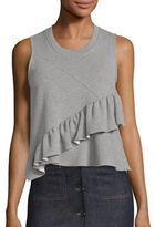Carven Cotton Blend Ruffle Top