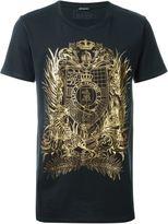 Balmain insignia print T-shirt