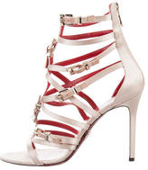 Cesare Paciotti Satin Buckle Sandals