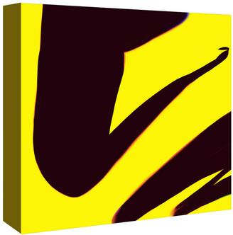 Americanflat Black And Yellow Abstract By Kasi Minami Canvas Artwork
