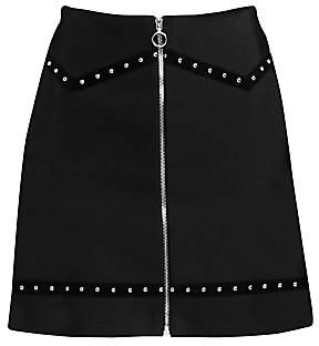 Maje Women's Jimage Studded A-Line Skirt