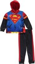 "Superman Little Boys' Toddler ""Steel Chest"" 2-Piece Fleece Sweatsuit"
