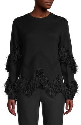 Kobi Halperin Simone Feather Fringe Sweater