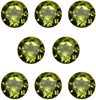 V3 Jewelry Natural 6mm Round-cut 7ctw Peridot Gemstone