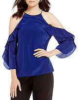 Antonio Melani Rommly Silk Cold Shoulder Blouse