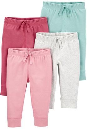 Carter's Baby Girl 4-Pack Pull-On Pants