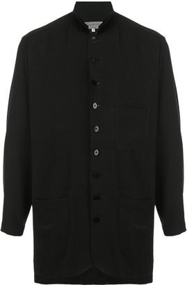 Yohji Yamamoto Mandarin Collar Buttoned Shirt